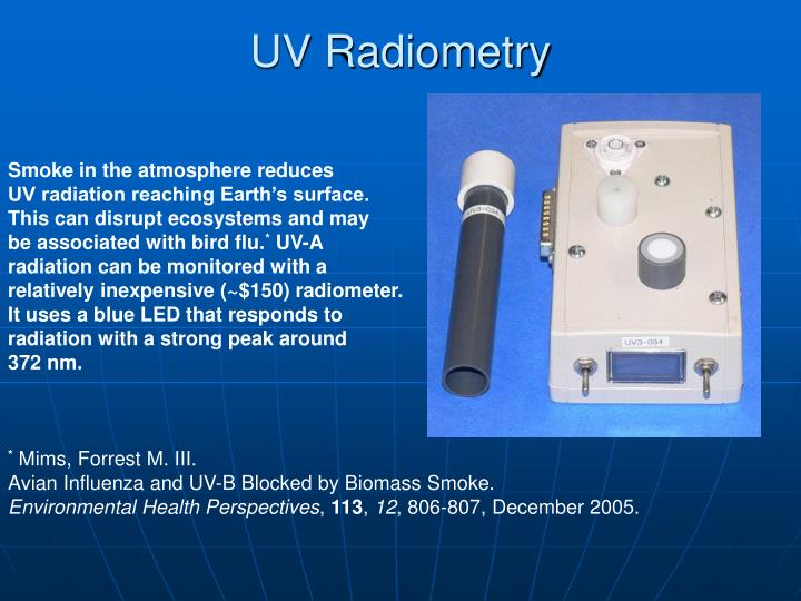 UV Radiometry