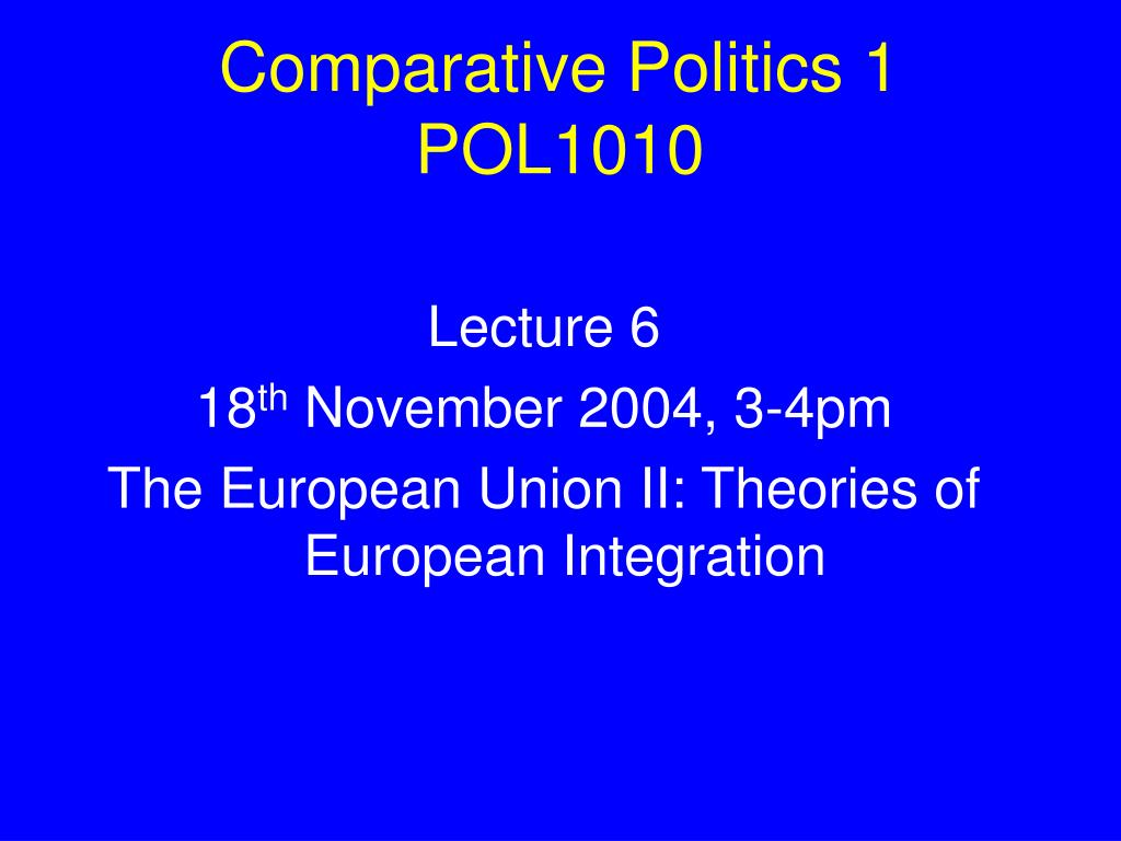 Comparative Politics 1