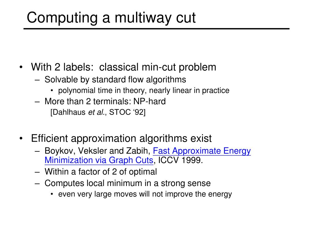 Computing a multiway cut