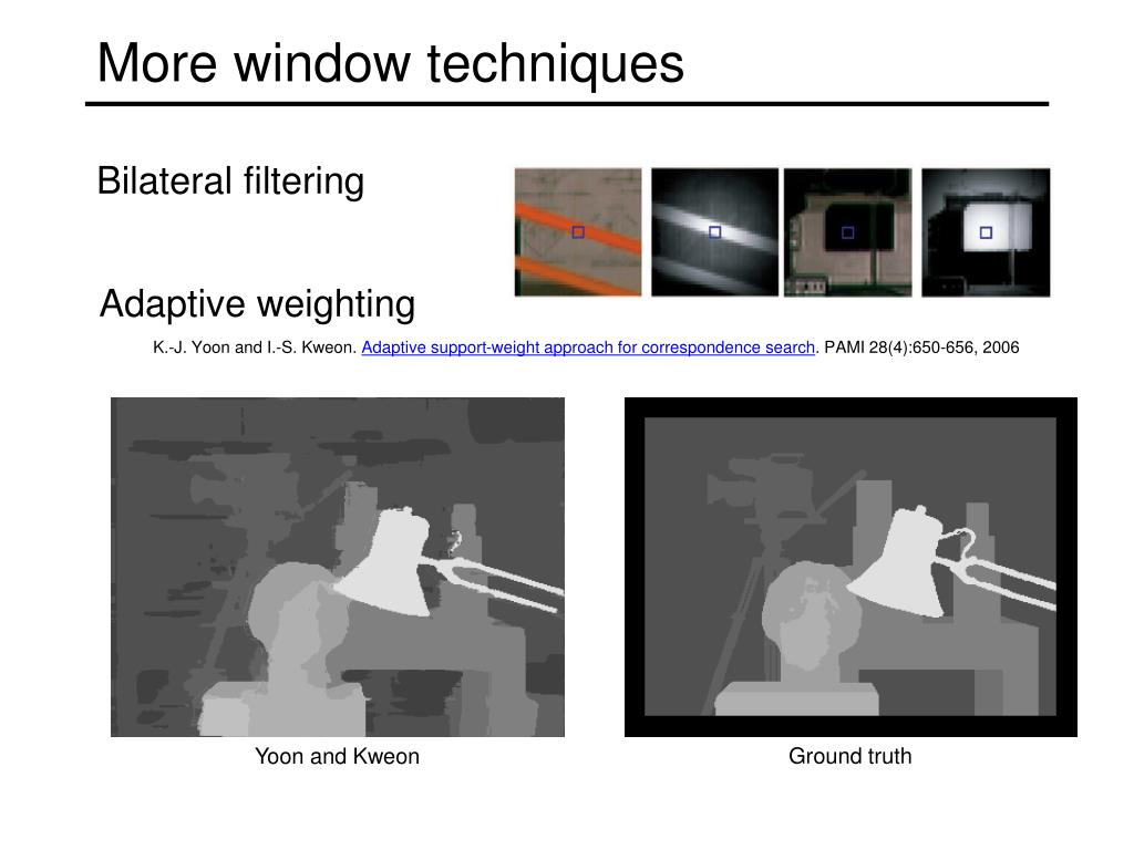 More window techniques
