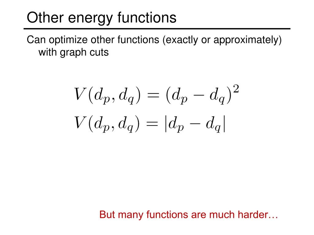 Other energy functions