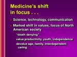 medicine s shift in focus