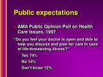 public expectations