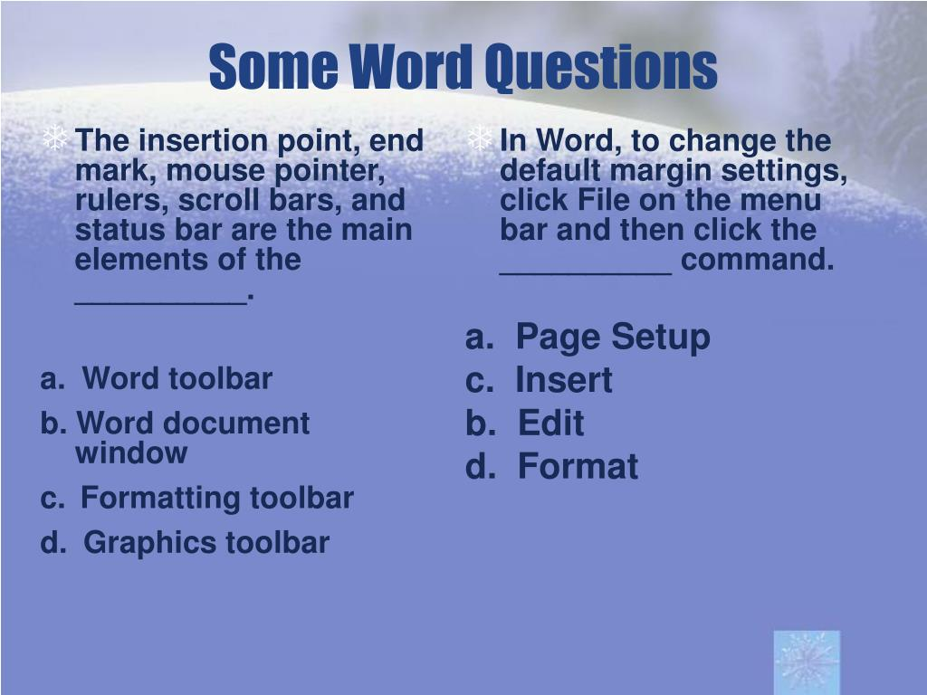 The insertion point, end mark, mouse pointer, rulers, scroll bars, and status bar are the main elements of the __________.