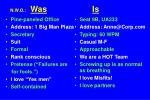 n w o was is is