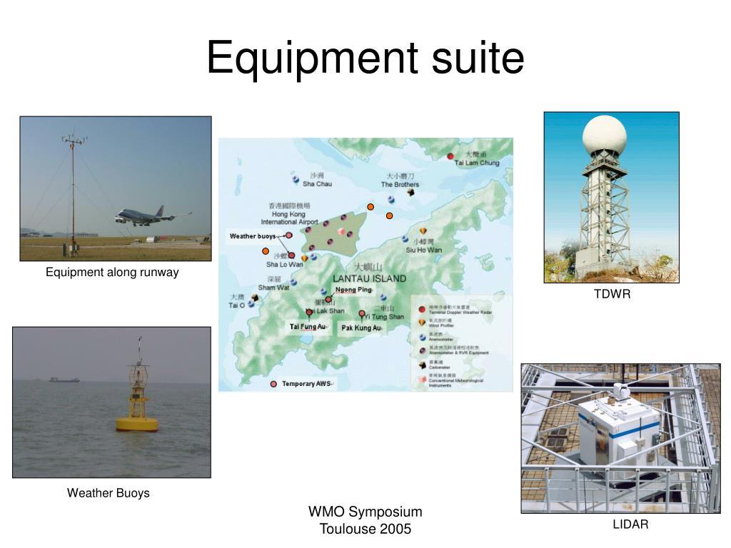 Equipment along runway