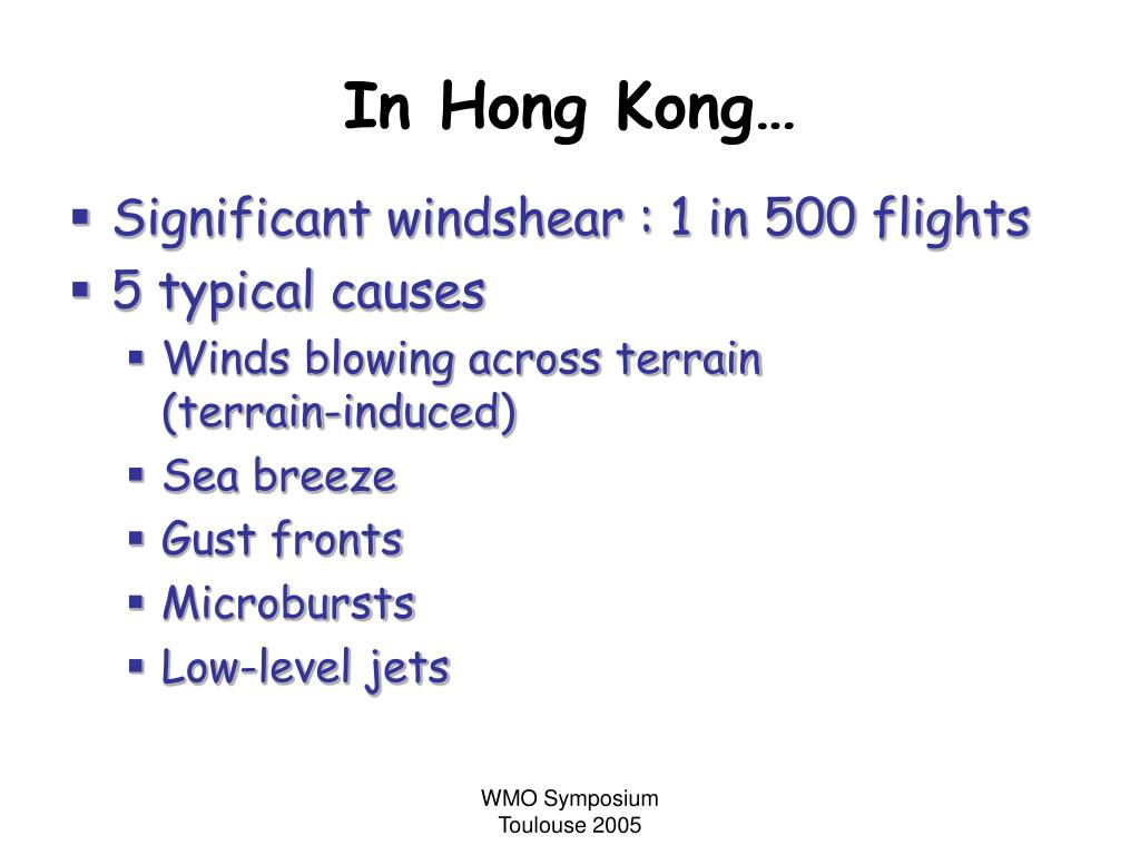 In Hong Kong…
