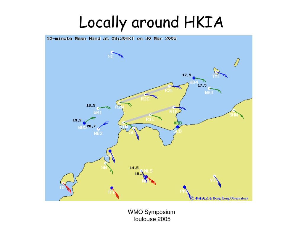Locally around HKIA