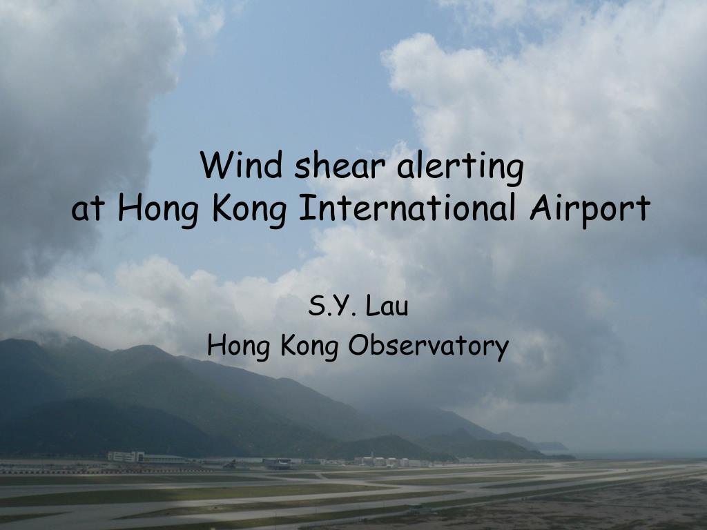 Wind shear alerting