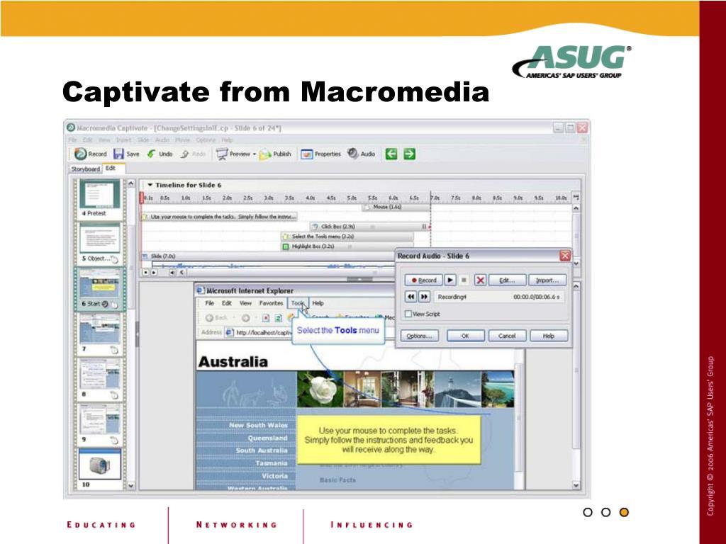 Captivate from Macromedia
