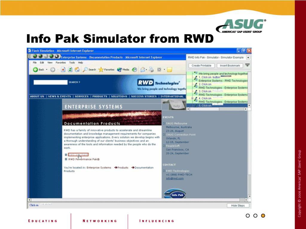 Info Pak Simulator from RWD