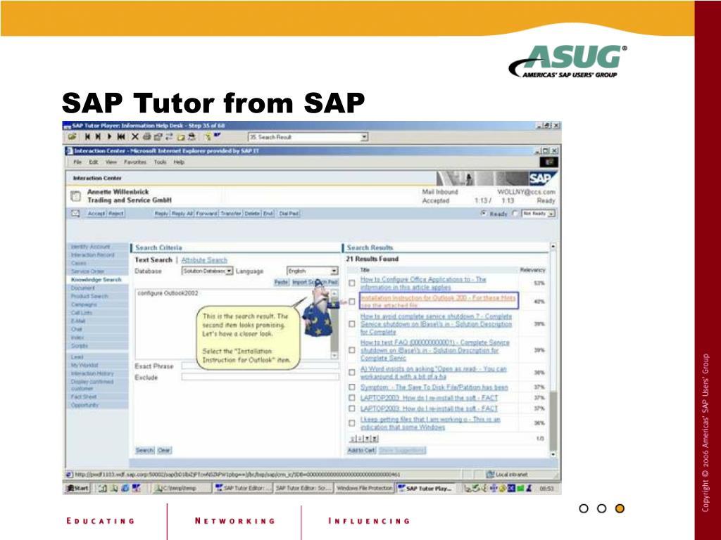 SAP Tutor from SAP