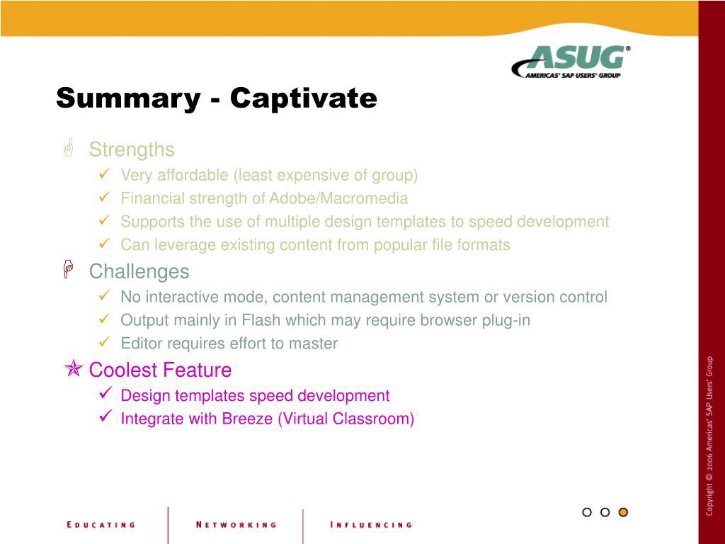 Summary - Captivate