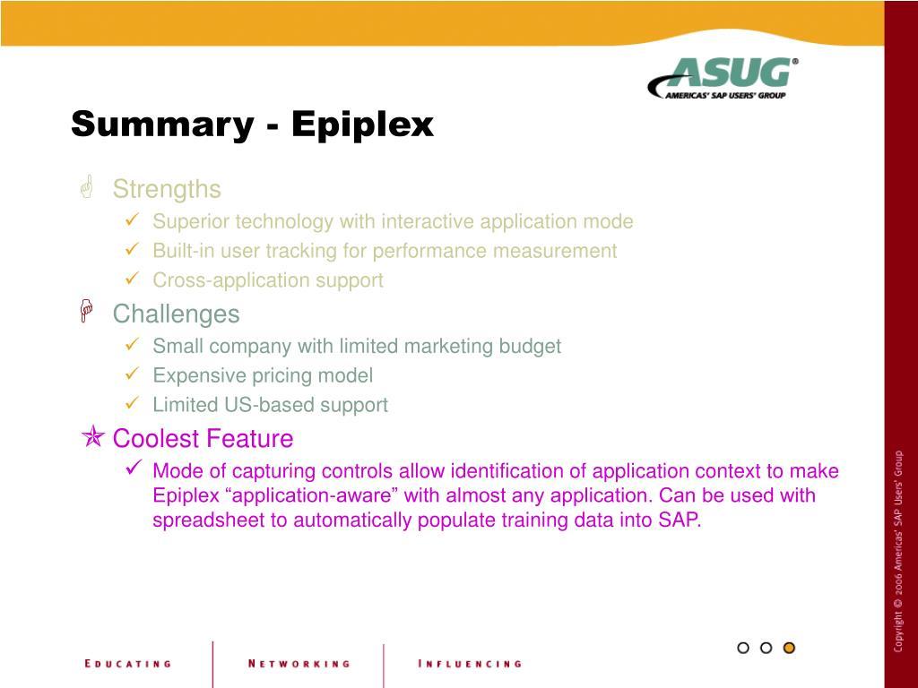 Summary - Epiplex