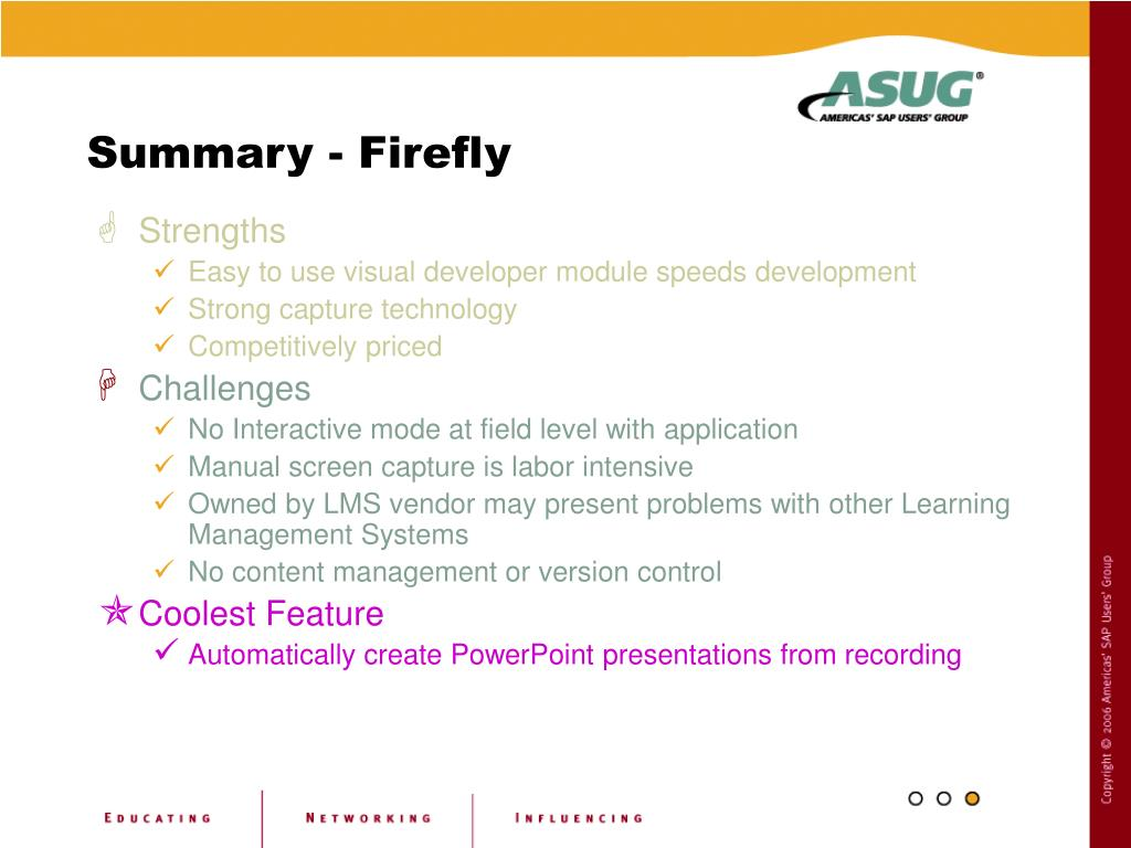 Summary - Firefly