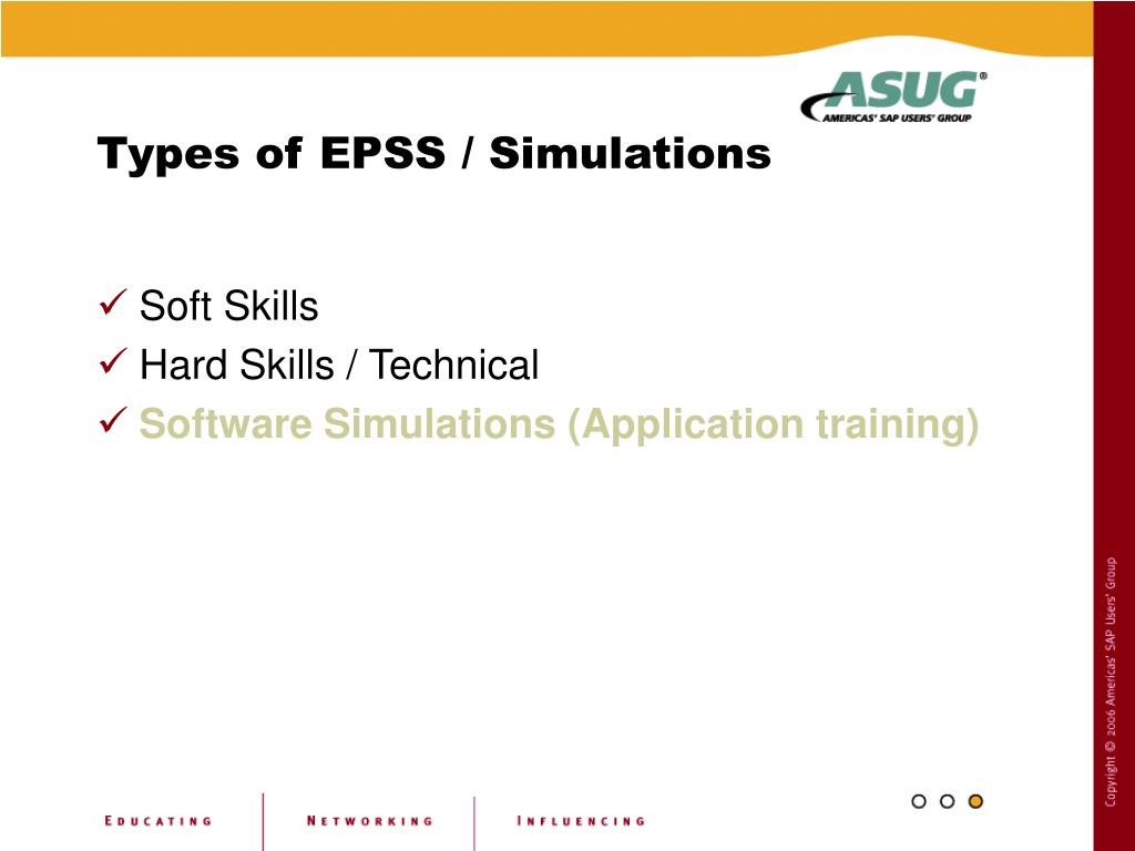 Types of EPSS / Simulations