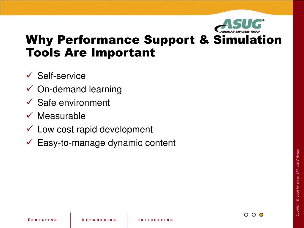Why Performance Support & Simulation Tools Are Important