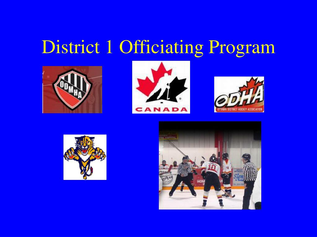district 1 officiating program