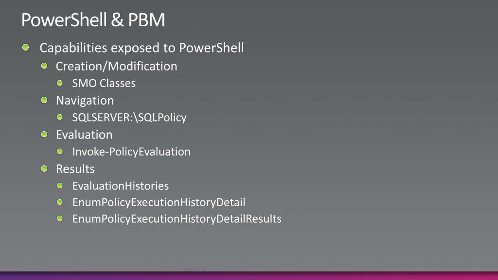 PowerShell & PBM
