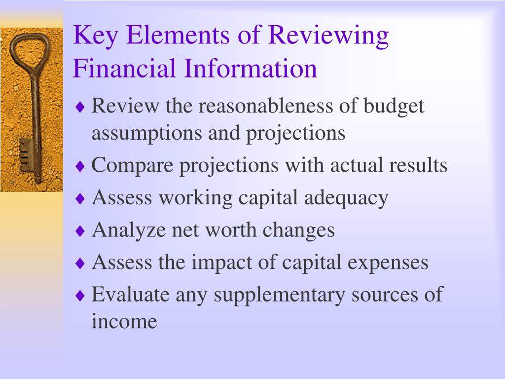 Key Elements of Reviewing Financial Information