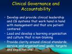 clinical governance and accountability50