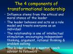 the 4 components of transformational leadership