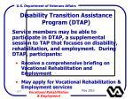 disability transition assistance program dtap