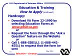 education training how to apply continued