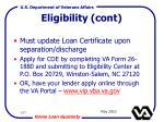eligibility cont