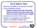 how to apply for tsgli