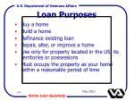 loan purposes