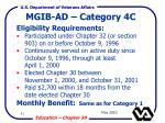 mgib ad category 4c
