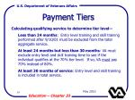 payment tiers