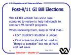 post 9 11 gi bill elections