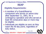 reap eligibility requirements