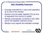 sgli disability extension