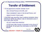 transfer of entitlement106