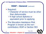 veap general continued