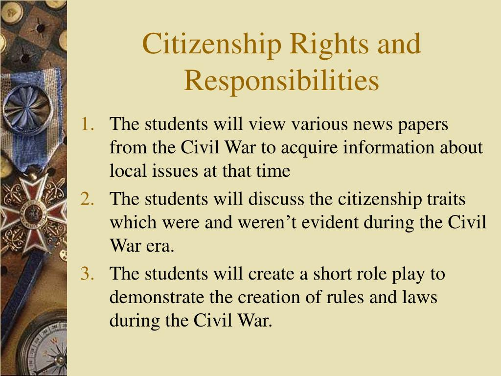 Citizenship Rights and Responsibilities