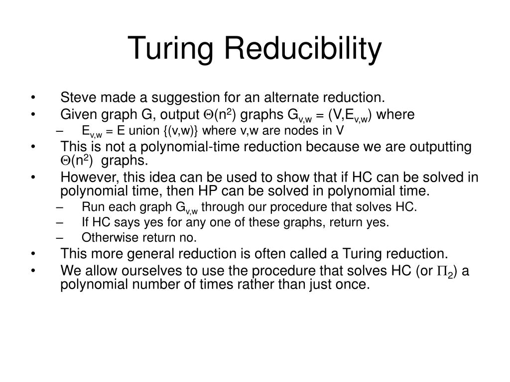 Turing Reducibility