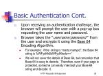 basic authentication cont