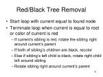 red black tree removal