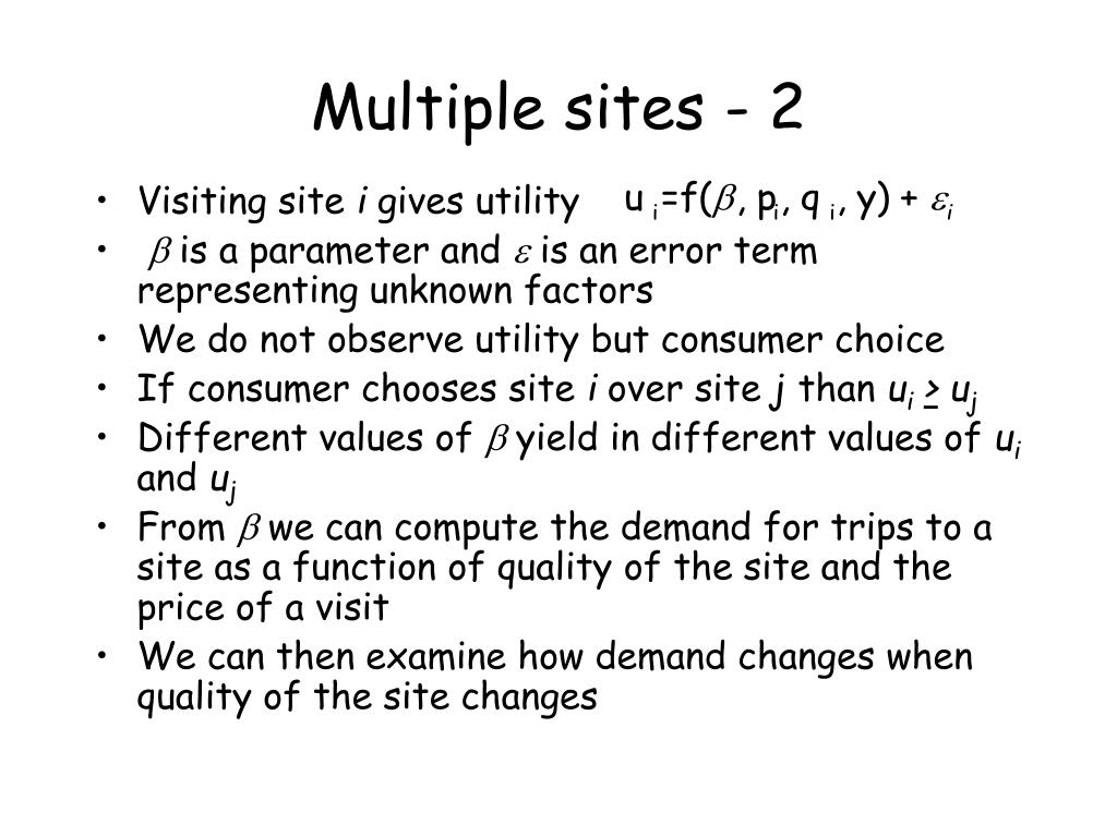 Multiple sites - 2