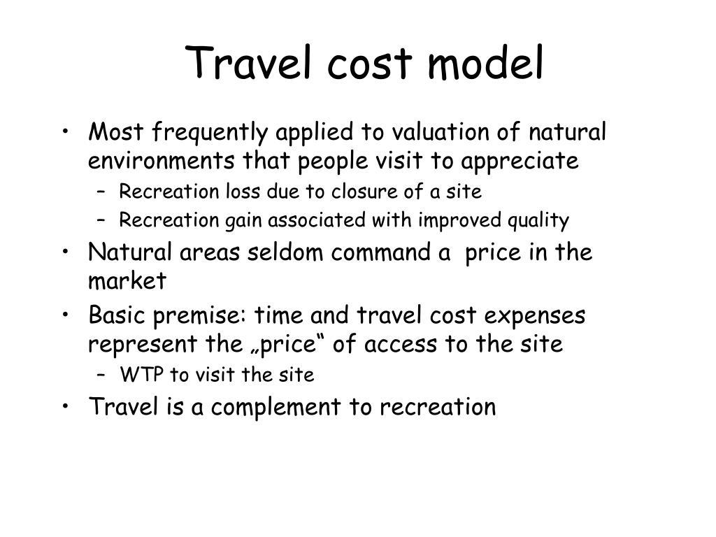 Travel cost model