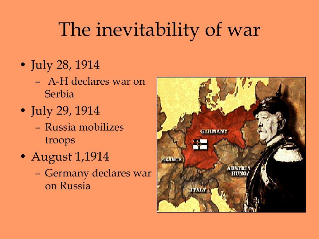 The inevitability of war