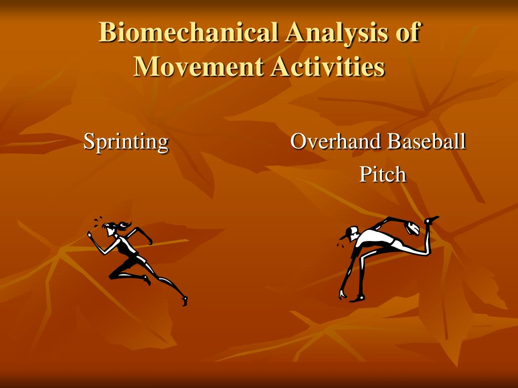 Biomechanical Analysis of Movement Activities
