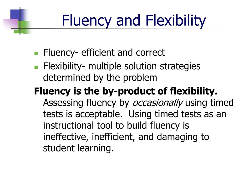Fluency and Flexibility