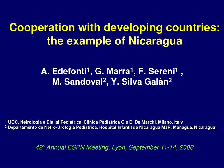 Cooperation with developing countries the example of nicaragua l.jpg