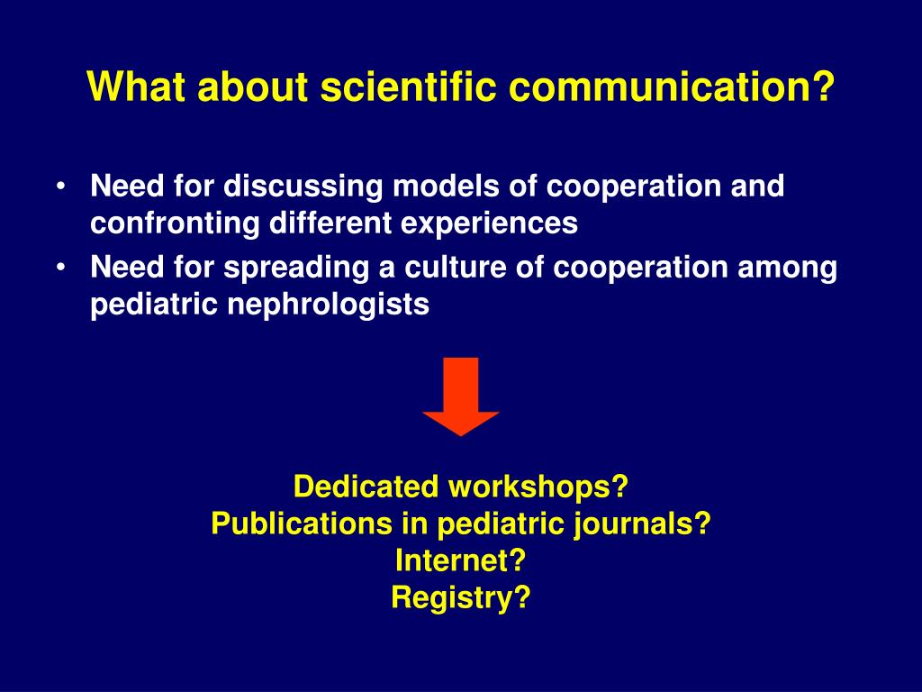 What about scientific communication?