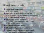 urban transport in india